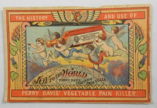 Vtg Perry Davis Vegetable Pain Killer History & use of Advertising Booklet 1879