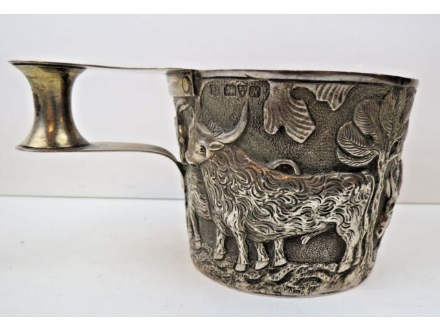 ANTIQUE REPLICA STERLING SILVER VAPHEIO CUP NATHAN & HAYES CHESTER Dated 1913