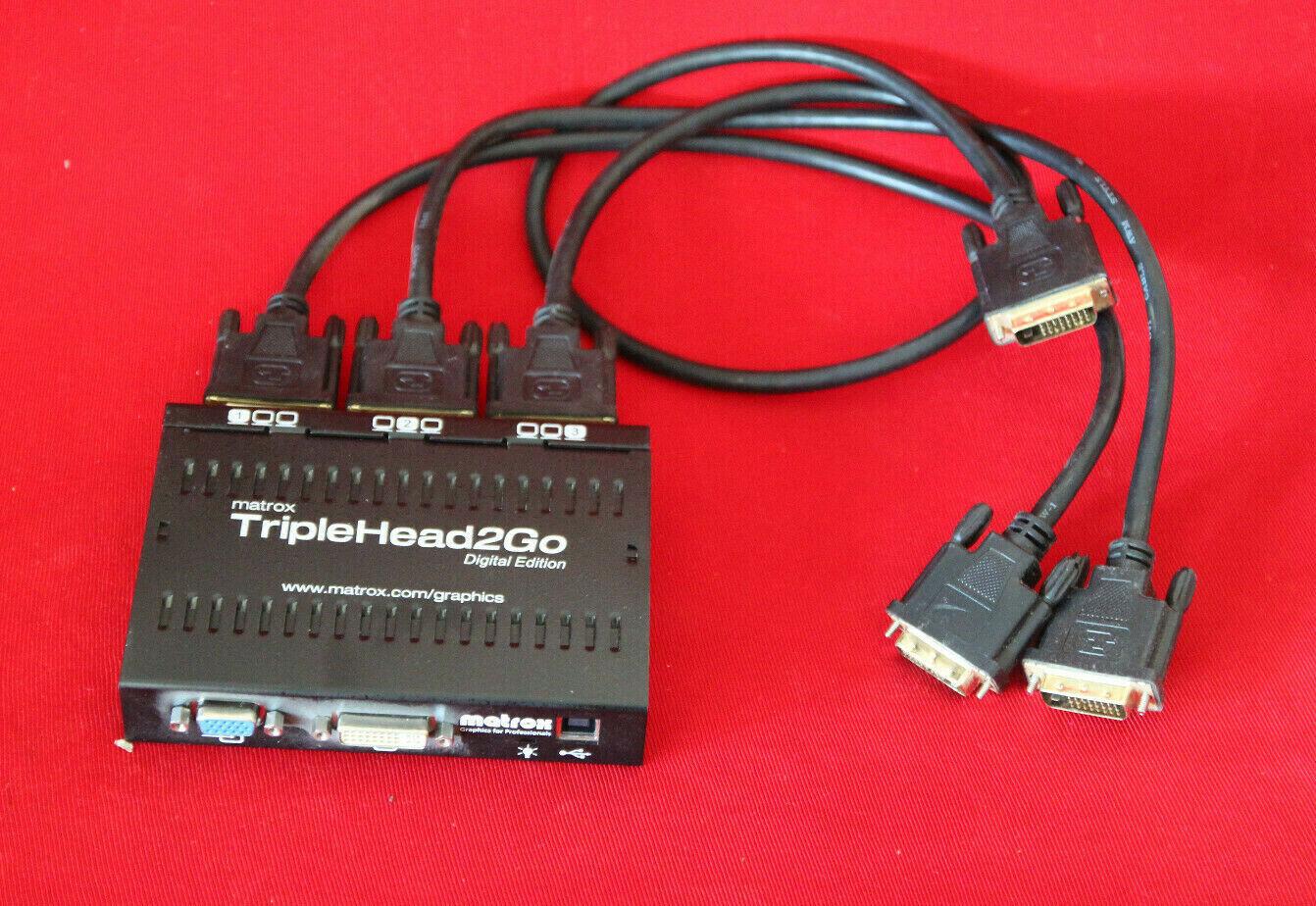 Matrox TripleHead2Go Triple Digital Edition (T2-D3DIF) Grafikkarte /  NEUZUSTAND