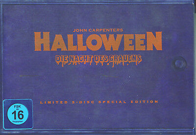 Halloween - Nacht des Grauens_J.Carpenter_ Ltd 3 Disc  Holzbox Edition_Neu !!