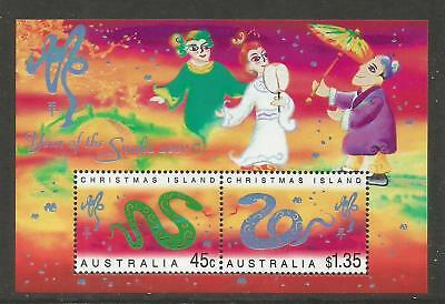 Christmas Island 2001 Lunar New Year/Snake ss--Attractive Topical (431a) MNH