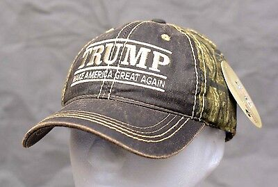 Make America Great Again Donald Trump 2020 Hat 45Th President  Nwt Mossyoak Camo
