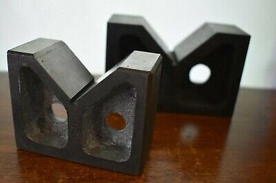 Pair Of Machinist V-blocks 3 X 1 2364 X 1 1964 And 4 X 2 58 X 1 58
