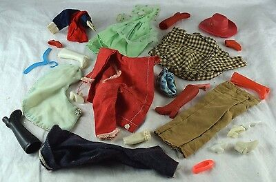1960's-70's Vintage Barbie Doll Clothing Lot Mixed