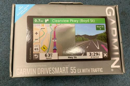 NEW Garmin DriveSmart 55 EX With Traffic GPS Navigator 010-02037-09 Free Ship - $129.99
