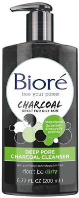 Biore Deep Pore Charcoal Cleanser Face Wash for Oily Skin, 200 ml