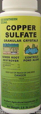 Southern Ag Copper Sulfate Granular Crystals 2 5 Lbs