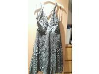 Monsoon Halterneck Dress Size 14 Brown