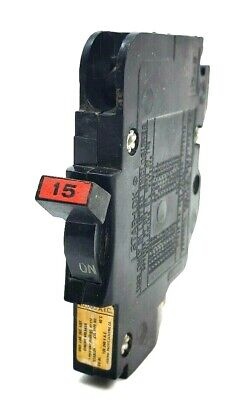 Fpe 15 Amp 1 Pole Stab-lok Type Nc Thin Federal Pacific Breakers Lot Of 3
