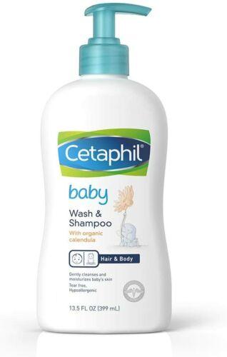 Cetaphil Baby Wash & Shampoo with Organic Calendula, 13.5 Fl. Oz. New
