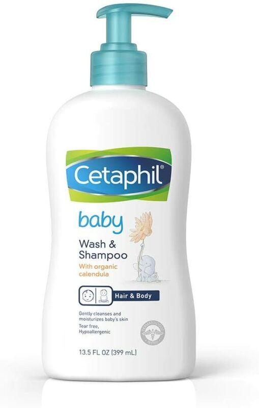 Baby Wash & Shampoo with Organic Calendula, 13.5 Fl. Oz