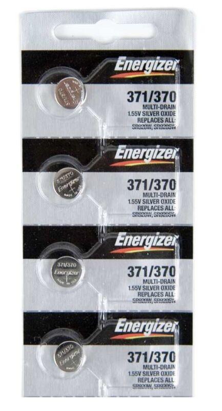 371 Energizer Silver Oxide Watch / Electronic Battery 4 Pcs
