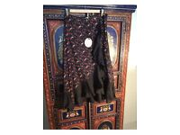 Brand New Paprika Wrap Skirt 12 With Frill Boho Flamenco Style Ruffle Layer Glam Print With Tags