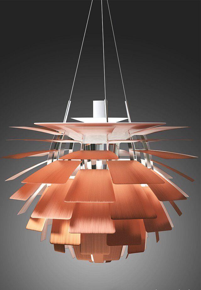Retro Copper Designer Artichoke Style Ceiling Pendant Light Fitting Lamp Chandelier Art