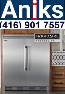 Frigidaire Professional FPRU19F8RF-FPFU19F8RF 64in Built-In Counter-Depth All Fridge All Freezer Side-By-Side 37.2 Cu.Ft