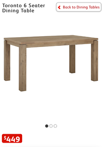 NEW TORONTO 6 SEATER DINING TABLE Liverpool Liverpool Area Preview