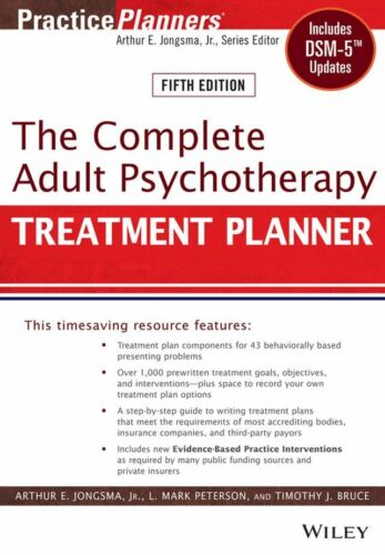 The Complete Adult Psychotherapy Treatment Planner, Digital Version INSTANTLY
