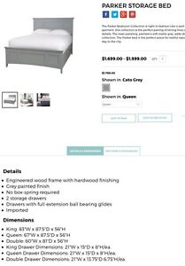Queen size Parker Storage bed from Urban Barn