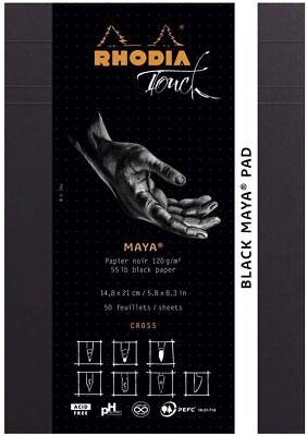 Rhodia Touch Staplebound Cross-n-dot Notebook 6 X 8 A5 Black Maya Pad