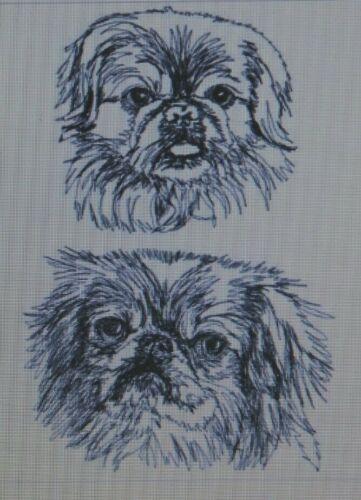 Pekingese Personalized Embroidered Gray Fleece Stadium Blanket Gift