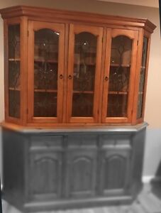 FREE timber wall unit display top piece only Chipping Norton Liverpool Area Preview