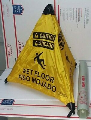 Handy Cone 18 Caution Wet Floor Sign With Wall Mounted Holder New Bs13