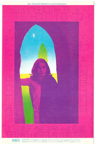 BIG BROTHER & HOLDING CO Electric Flag YOUNGBLOODS 1968 Fillmore POSTCARD BG 104