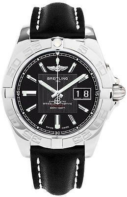 Breitling Men's A49350L2/BA07 Galactic 41 mm Automatic Trophy Black Dial Watch