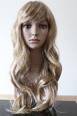 Halloween-kostüme Blonde Haare (Halloween Damen blond lang COSPLAY Perücke Haare lockig Maskenkostüm)