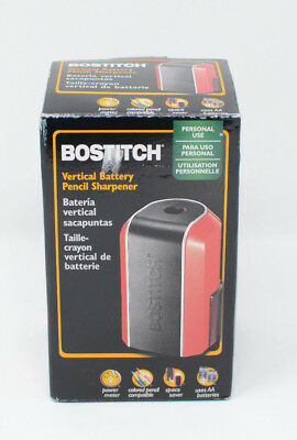 Bostitch Vertical Battery Pencil Sharpener Red And Black