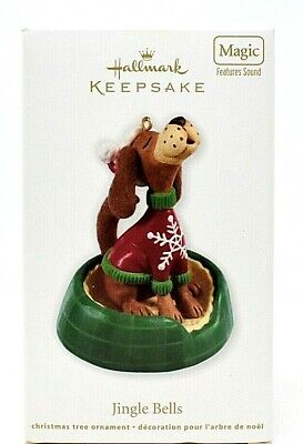 RARE NEW 2012 HALLMARK JINGLE BELLS WITH THE SINGING DOGS CHRISTMAS ORNAMENT WOW