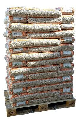 ScanFarm Holzpellets 6 mm, 56 x 16 kg Sack insgesamt 896 kg Pellets eine Palette