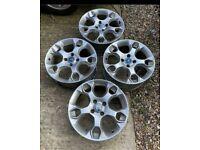 """17"""" Ford Fiesta Mk 6 7 Zetec Titanium Snowflake Alloy Wheels Alloys No Tyres"""