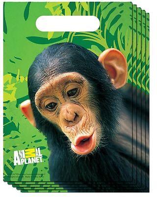 Safari, Zoo, Monkey Theme Party Treat Loot Bags - Pack of 8 - Monkey Theme