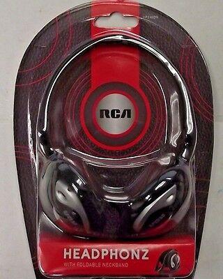 RCA HP245DRV Foldable Stereo Neckband Headphones Headset