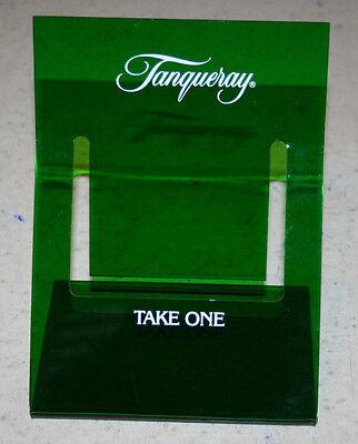 Vintage Green Acrylic Tanqueray Brochure Literature Holder Advertising