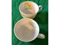 MOOMIN valley set of 2 tea cups/ mugs kitsch.leaf,nature,woodland. Collectable