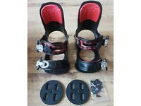 Tigris Snowboard Bindings Black Snowboard Bindings BRAND NEW Size2,3,4,5,6