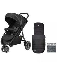 Joie Litetrax 3 Stroller Puchchair BRAND NEW inc Raincover & Footmuff