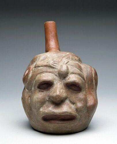 Moche Human Potato-Sacrifice Vessel Fascinating transformation vessel. Very rare