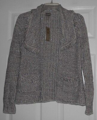 Chicos Apparel Penelope Ls French Lilac Cardigan Sweater Size 0 S  Nwt