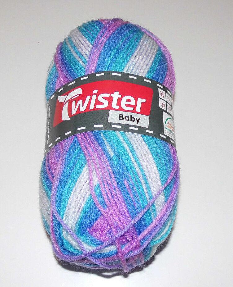 Twister Baby  Universalgarn / Wolle 50g Farbnr. 092 Aqua Color
