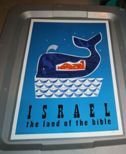 ISRAEL LAND OF THE BIBLE JONAH 11X17 REPRO POSTER  READY TO HANG TRAVEL AGENT