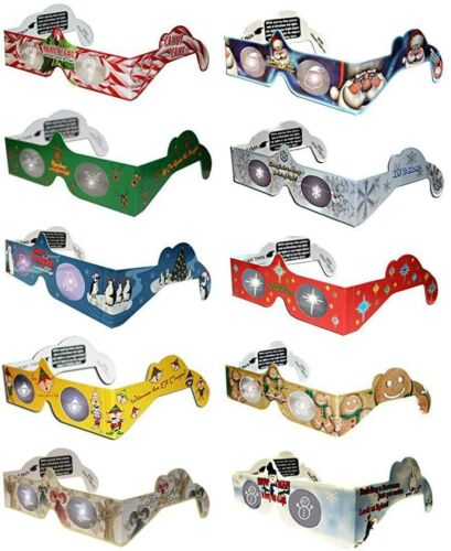 Holiday Specs 3D Christmas Glasses (10 Pack) - Image Lights Before Your Eyes