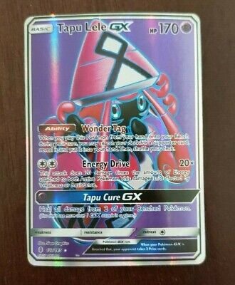 POKÉMON Pokemon Tapu Lele GX Full Art Holo 137/145 Guardians Rising US Seller