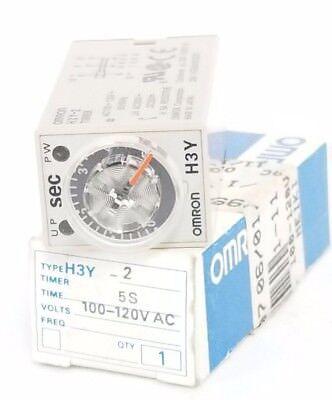Nib Omron H3y-2 Timer H3y2 100-120v Ac 5s