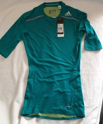 adidas TechFit C/&S Kurzarm Funktionsshirt T-Shirt Sportshirt Kompressionsshirt