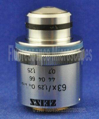 Zeiss Plan-neofluar 63x 1.25 Oil Iris Infinity 0.17 Microscope Objective