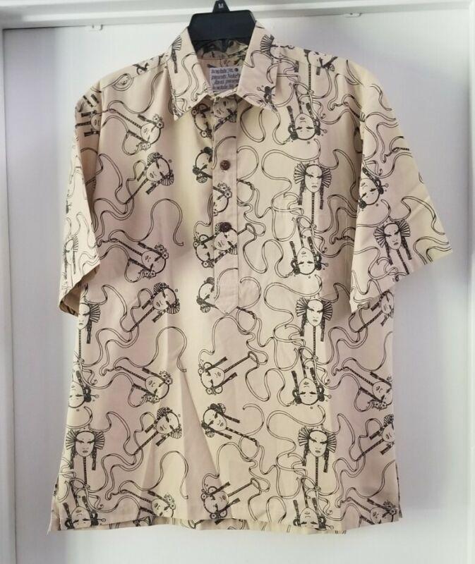 Vintage Nake'u Awai Hawaiian Shirt - Rare Design! Large to XL