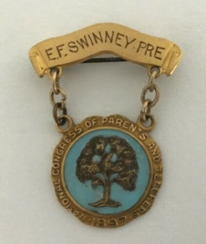 Vintage National Congress of Teachers and Parents Pin EF Swinney Pre A5-50